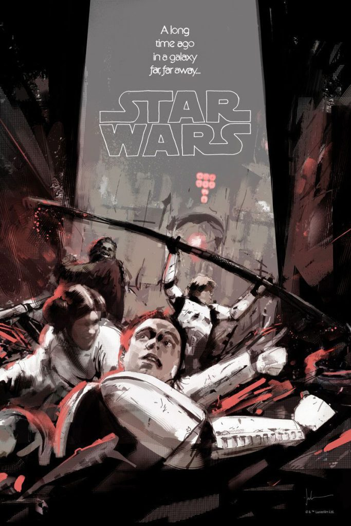 Star Wars: A New Hope Trash Compactor Print by Jock