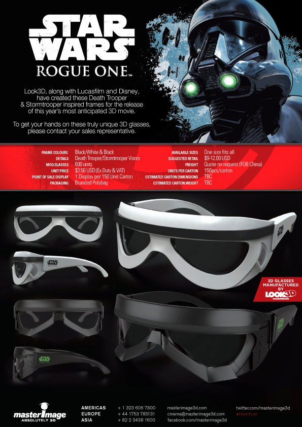 Rogue One 3D Glasses