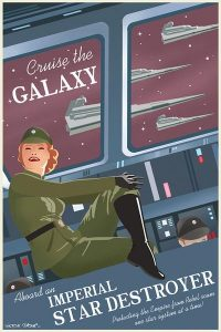 Star Wars Vintage Travel Art