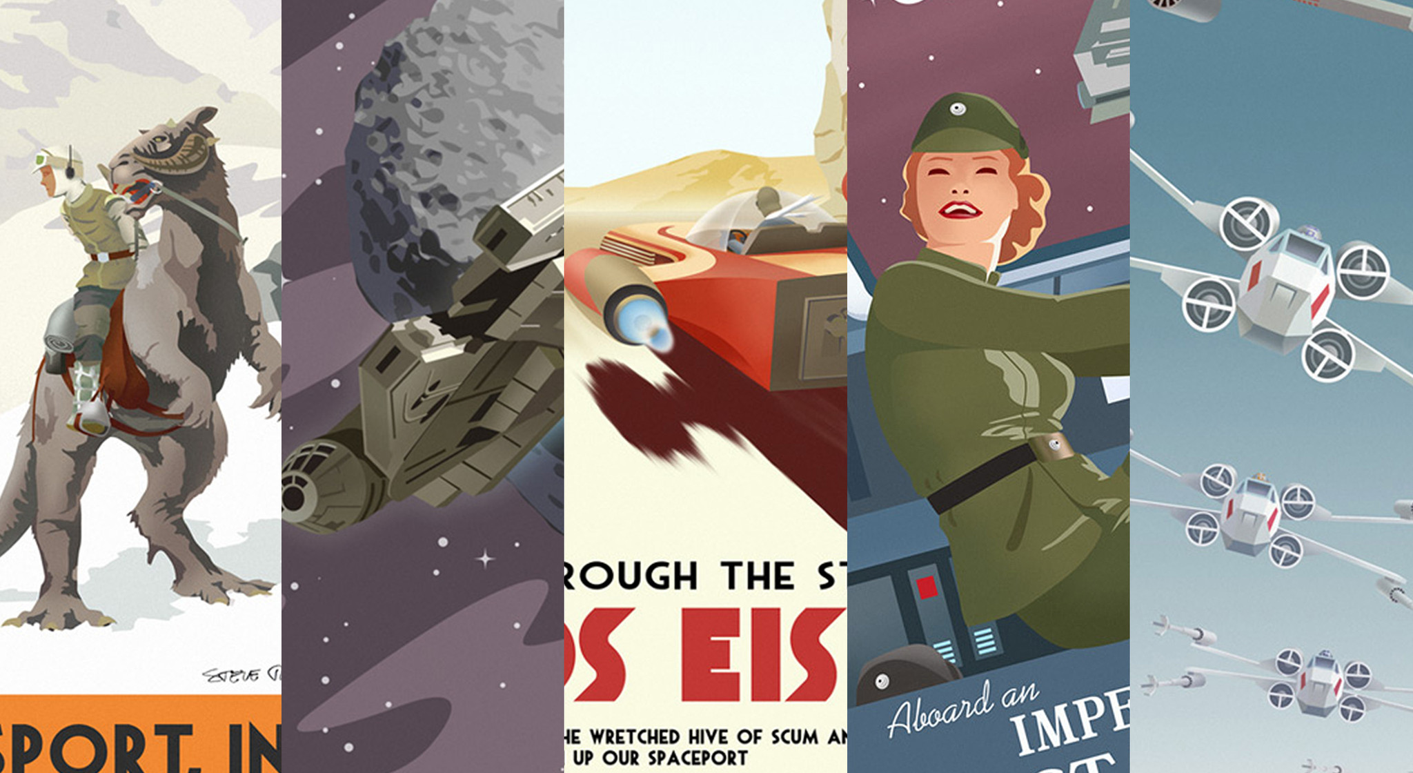 Steve Thomas Star Wars Vintage Travel Art Available Now! - Outer Rim ...