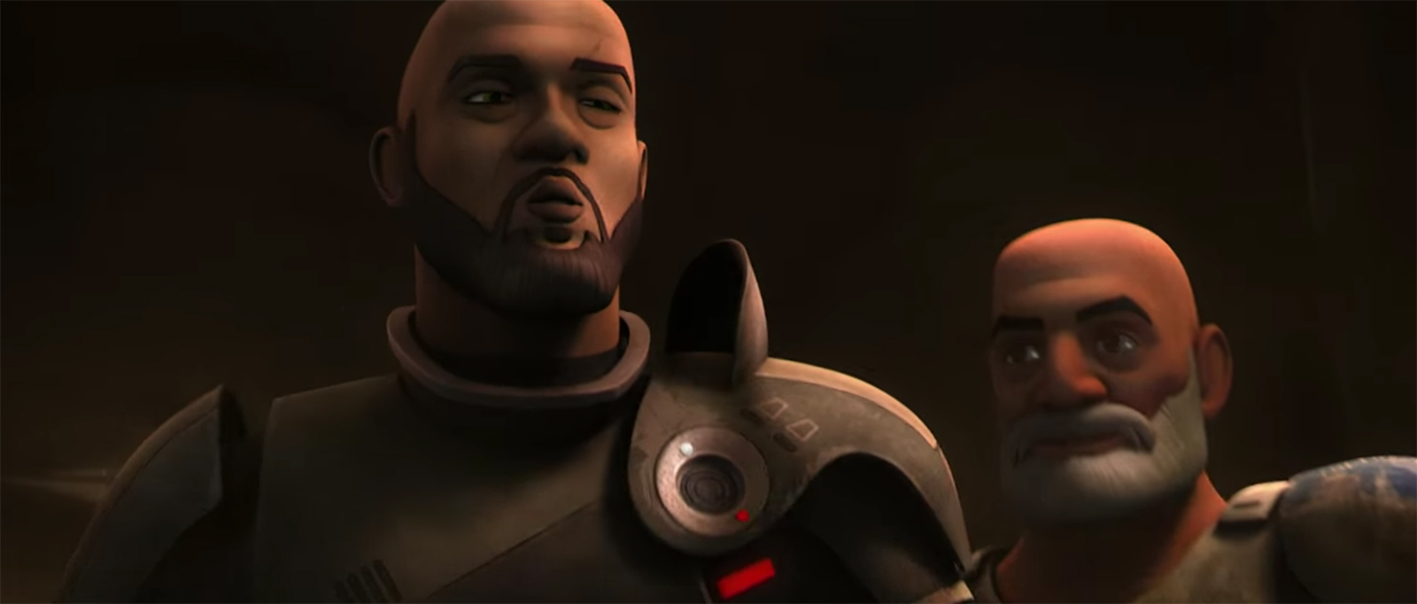 Saw Gerrera and Rex from