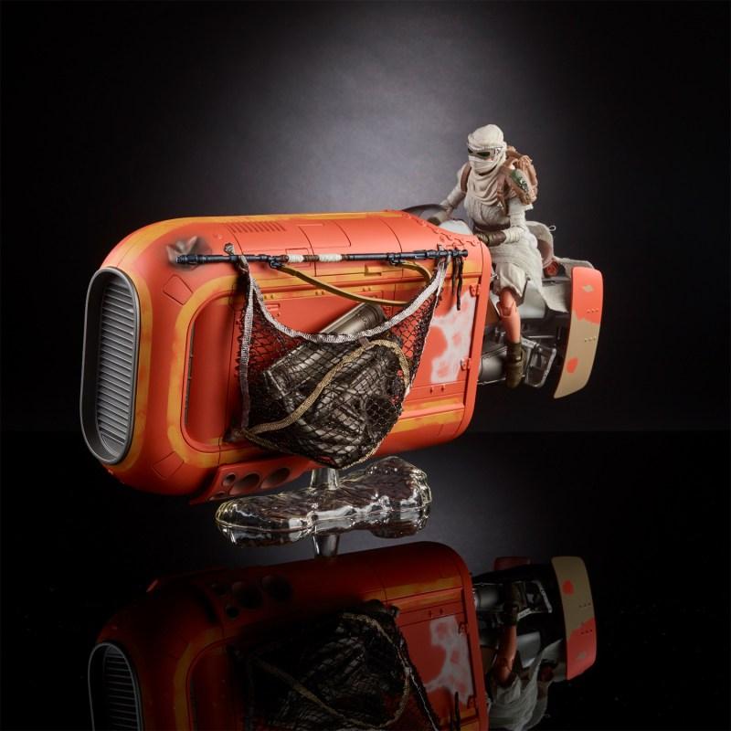 Black Series Rey with Speeder