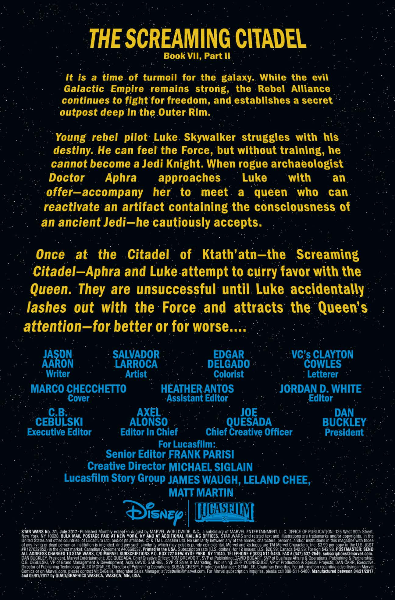 Star Wars 31 Preview