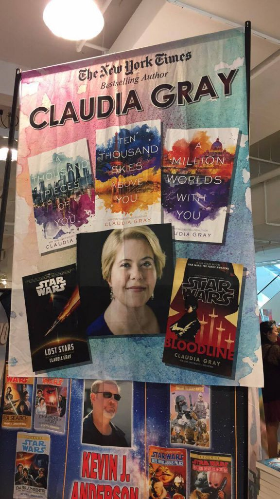 Claudia Gray's Booth Banner (photo: Brittany Smith)