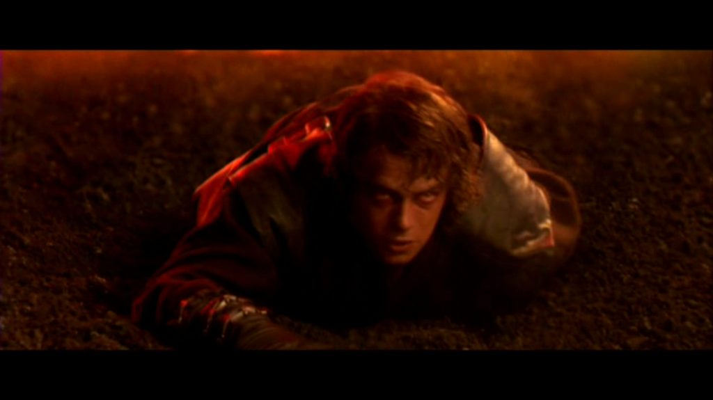 Anakin loses arm and legs (Revenge of the Sith)