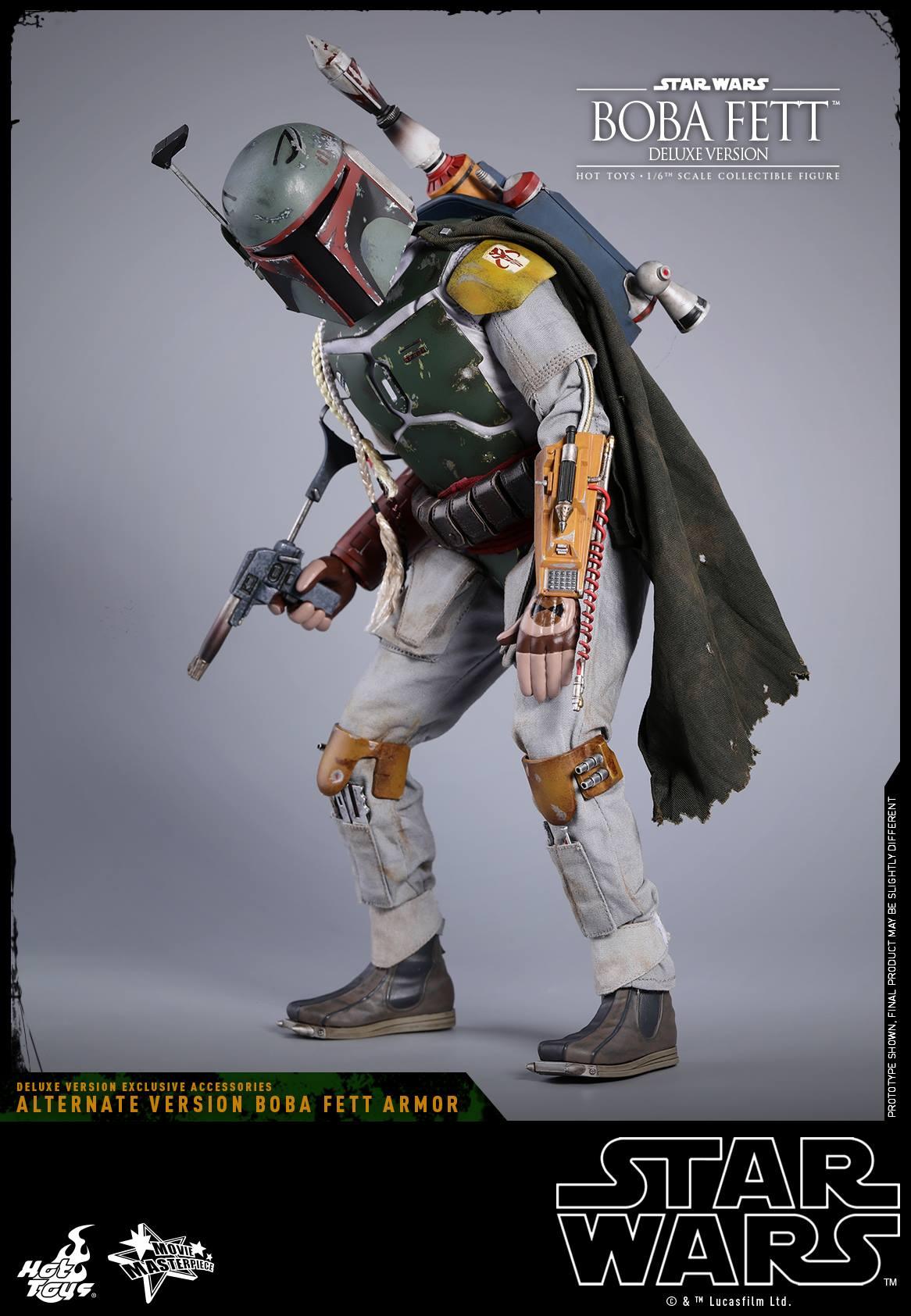 Episode V Boba Fett Blaster rifle Model Hot Toys MMS464 1//6 Star Wars