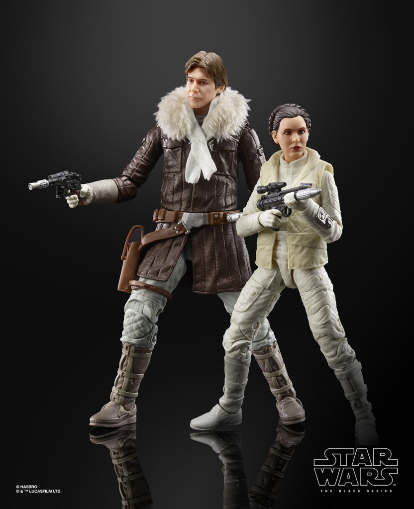 STAR WARS: THE BLACK SERIES HAN SOLO AND PRINCESS LEIA ORGANA Figures