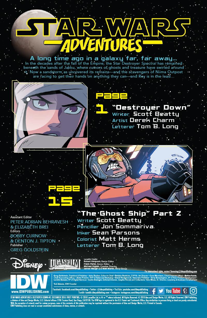 Star Wars Adventures: Destroyer Down 2 Cover