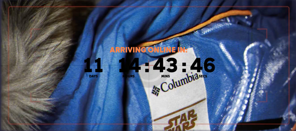 Columbia Star Wars Jacket Tease