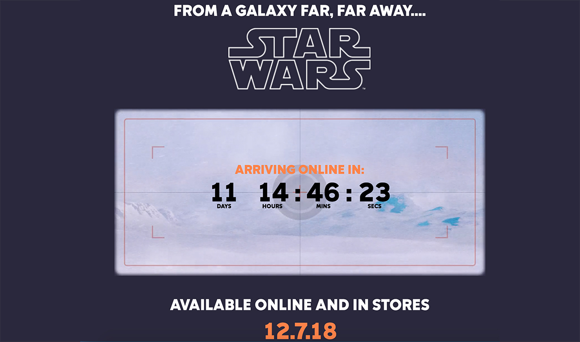 Columbia Star Wars Countdown Clock