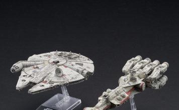 Bandai Blockade Runner & Millennium Falcon Model Kit Set