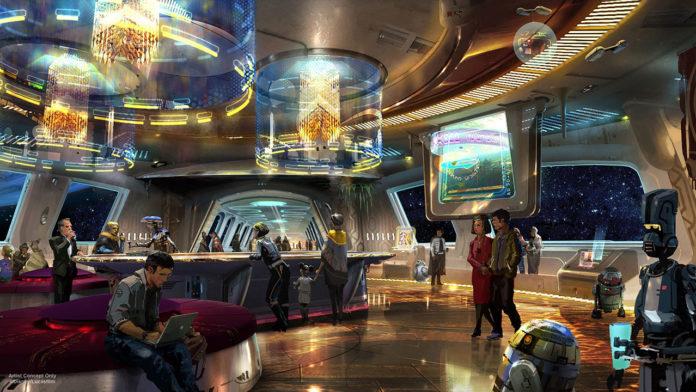 Concept Art for Star Wars Hotel at Disney Parks