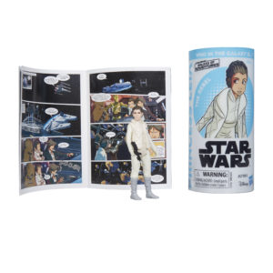 STAR WARS GALAXY OF ADVENTURES PRINCESS LEIA Figure and Mini Comic
