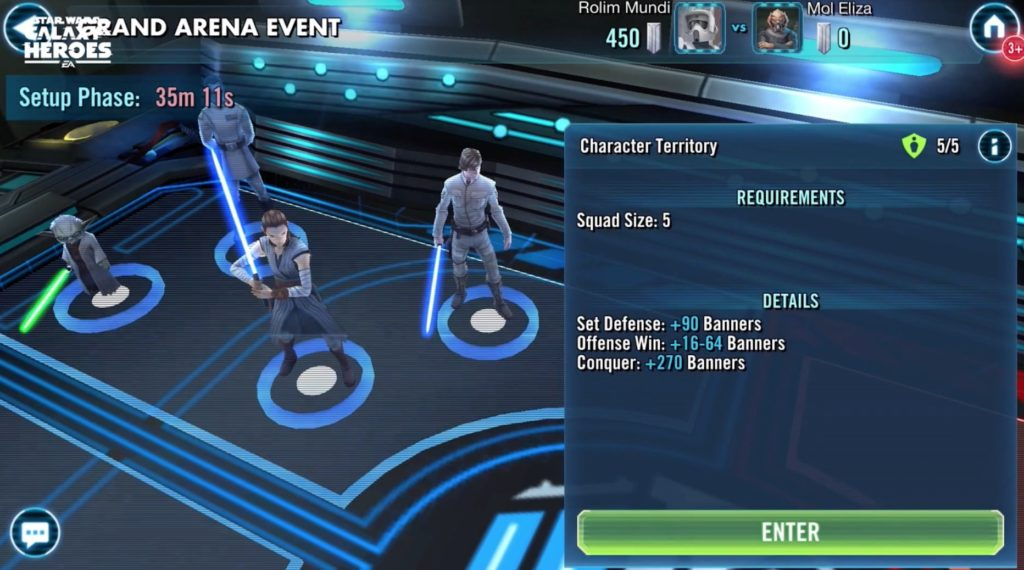 Star Wars: Galaxy of Heroes Grand Arena Board