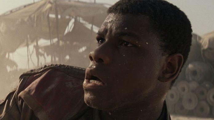John Boyega in Star Wars: The Force Awakens