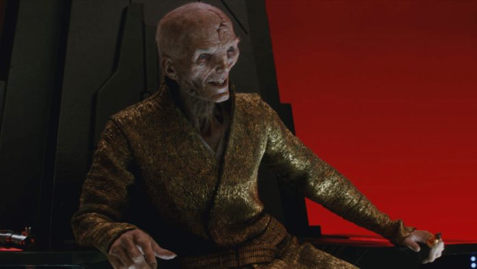 Supreme Leader Snoke (played by Andy Serkis)