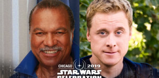 Billy Dee Williams (Lando Calrissian) and Alan Tudyk (K-2SO)