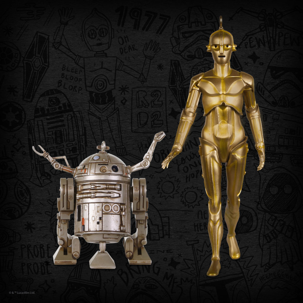 Beginnings: C-3PO and R2-D2 Keepsake Ornament 2-pack, $40