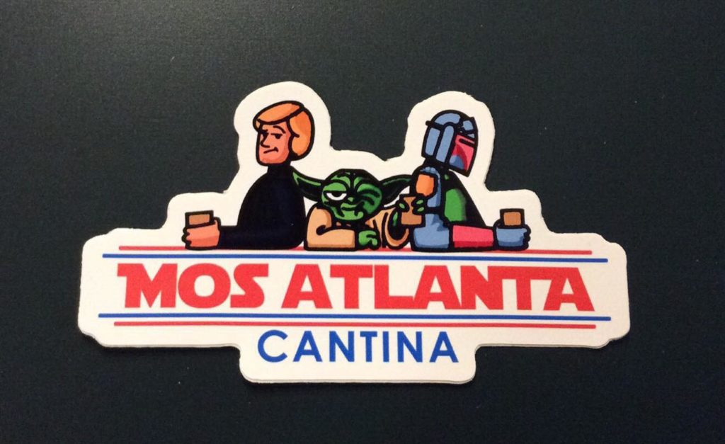 Mos Atlanta Cantina Logo Sticker