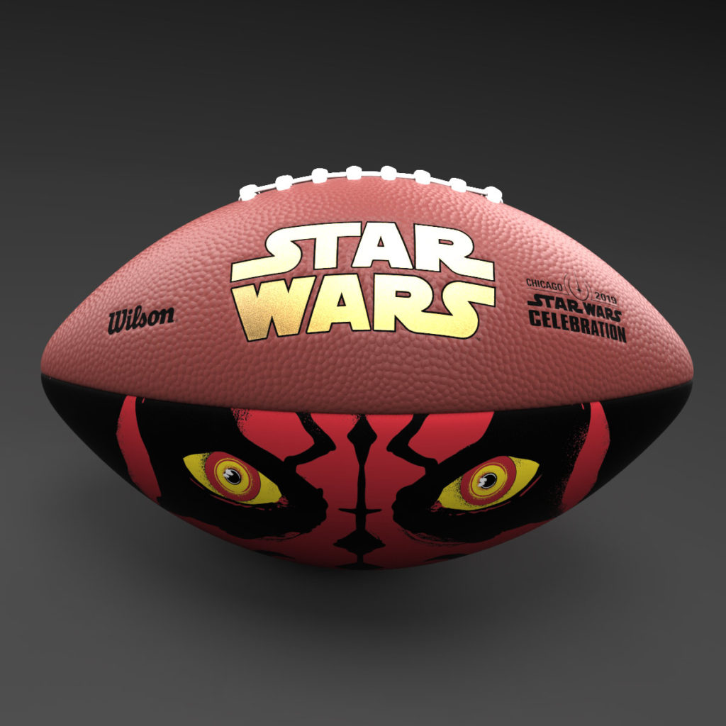 Star Wars: The Phantom Menace 20th anniversary football, $100